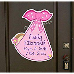 """""""It's a Girl Door Hanger """" Personalized New Baby Door Hanger Announcement"""