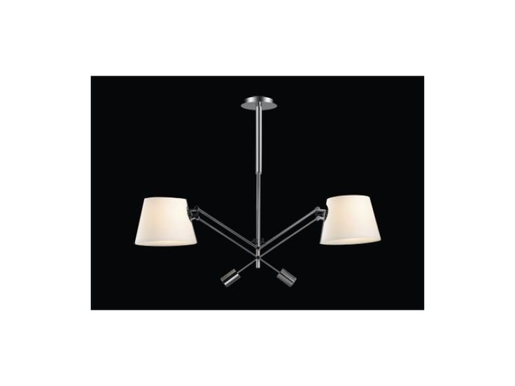 lampa wisząca Pesso Bianco dwa klosze salon gabinet orlicki design