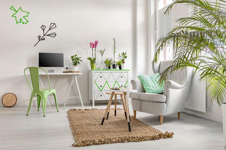 Zieleni w domu nigdy za wiele! Lubimy ją w różnych odcieniach i pod każdą postacią. Niech to będą rośliny, wzory na ścianie albo mebel w tym kolorze. Czy w Waszych wnętrzach też króluje zieleń?