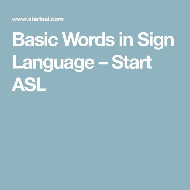 Showing some basic words in sign language with video tutorials