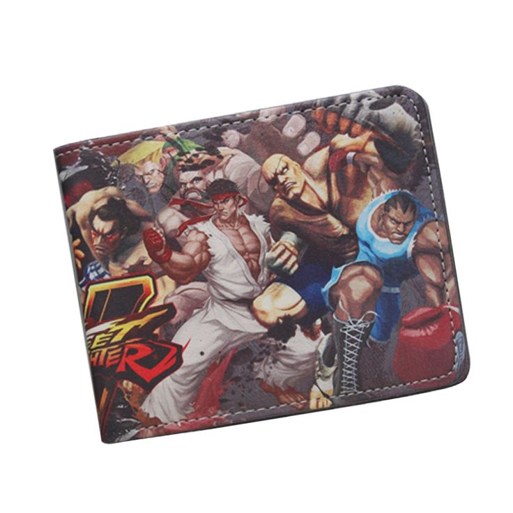 cool STREET FIGHTER Wallet Cool Short Leather Wallet For Teenager Boy Girl ID Card Holder Money Bag Retro Nintendo Game Wallet Purses chez Unigro