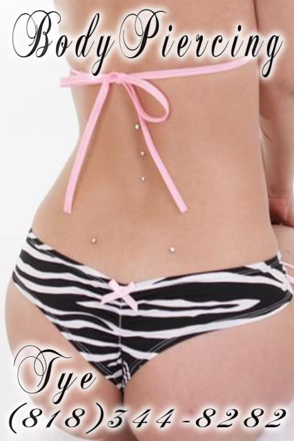 Want!! Back dimple piercing & the 3 down the spine... Love!