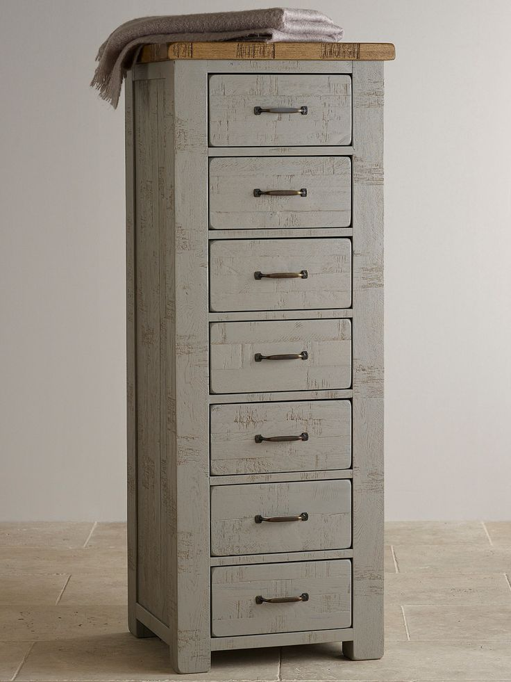 Clermont Painted Rough Sawn Solid Oak 7 Drawer Chest £323