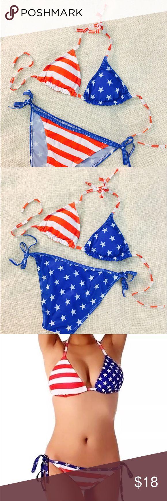 USA  American Flag Fourth of July Bikini Brand new bikini - Stars and Stripes American Flag Bikini GoodieLou Swim Bikinis