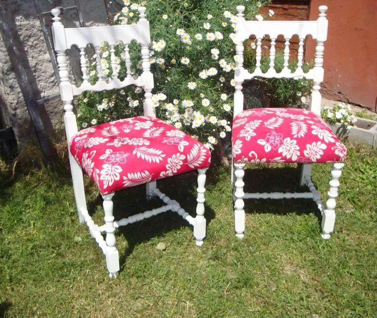antiguas sillas de estilo restaurada a nuevo precio x unidad