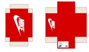 Nike Sneaker Box | printable miniature | Pinterest | Baskets nike ...