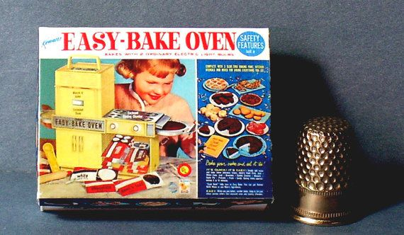 Easy Bake Oven Box 1964  Dollhouse Miniature  1:12 by LCminiatures
