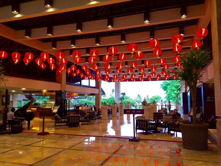Chinese New Year decoration at Discovery Kartika Plaza Hotel