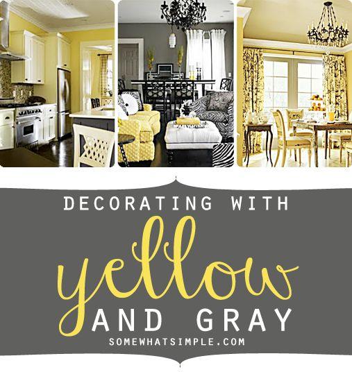 Image Of Yellow Gray Bedroom Decorating Ideas