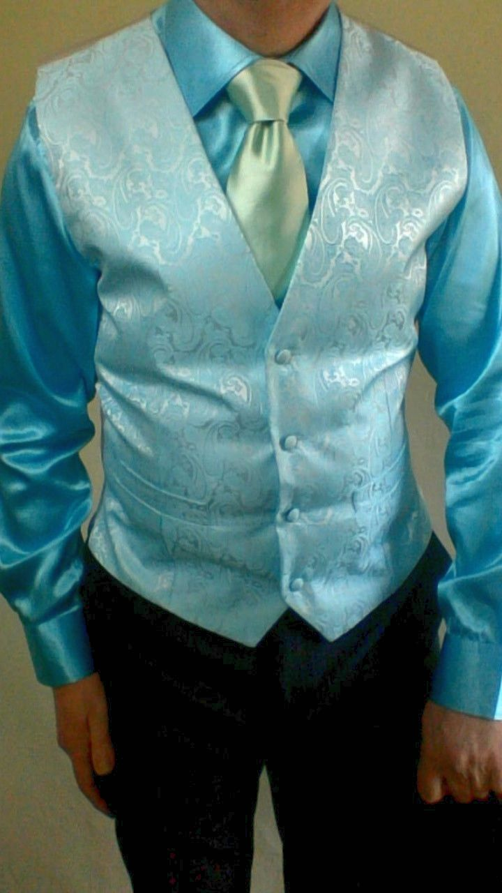 This vest and dress shirt
