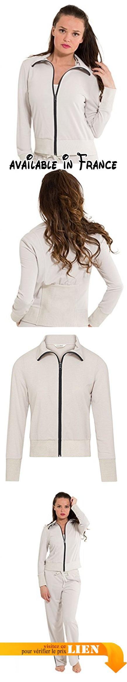 LingaDore 2847- Women's Workout Grey Pajama Jacket Pyjama Top Medium. Relaxez-vous avec style vêtue de cette veste.. Fermeture éclair sur le devant et col retourné.. Poignets élastiques, ourlet et détails au dos.. Associez-le avec le bas assorti pour compléter le look. #Apparel #SLEEPWEAR