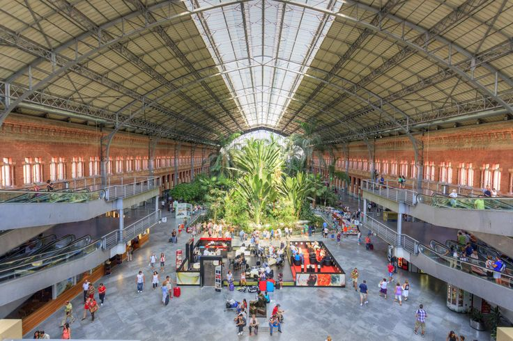 El jardín tropical de la estación de Atocha: Station, Madrid, As, Within, Large