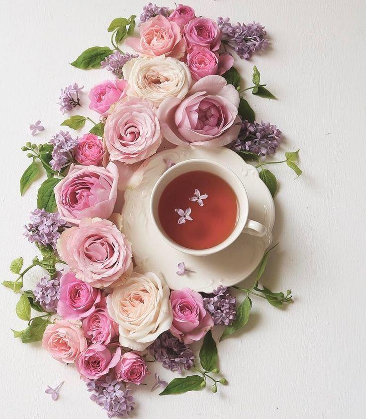 Открытки картинки доброе утро цветы кофе