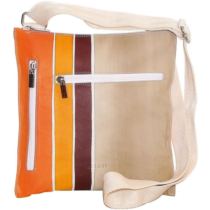 Natural leather handbag, unisex, hand painted. Practical and casual, it's especially suitable for men. All handbags can be purchased with matching shoes, wallet, belt and other accessories. Colors orange yellow beige and dark violet and pattern geometrical.