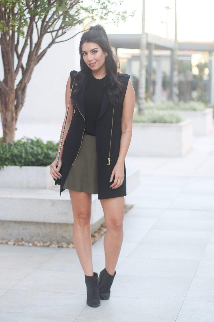 look do dia maxi colete moda estilo / Jessica Flores