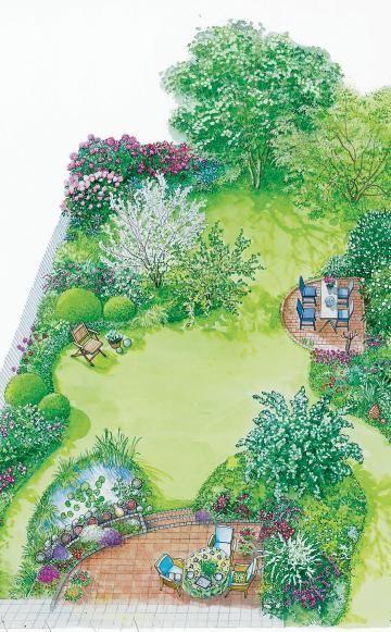 Im Frühling erstrahlt der Garten in einer Blütenpracht                        …