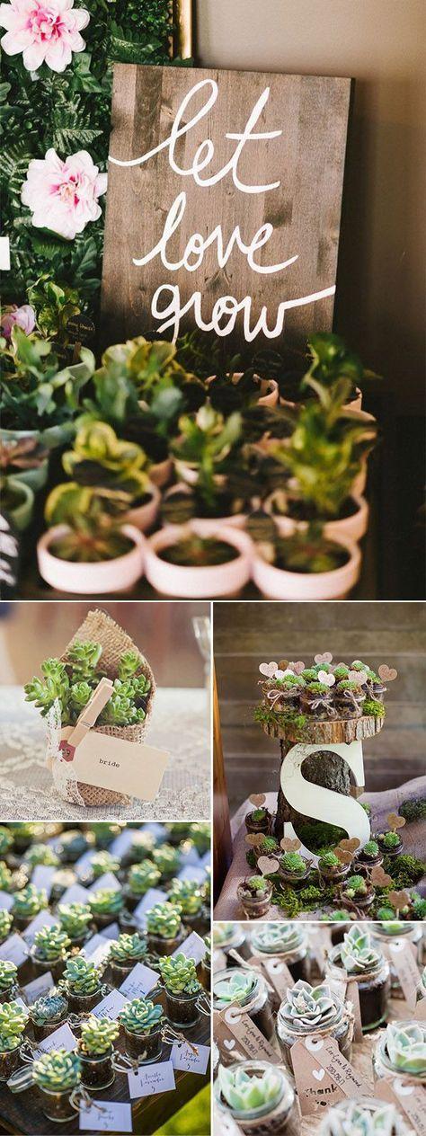 DIY rustic succulent wedding favor ideas