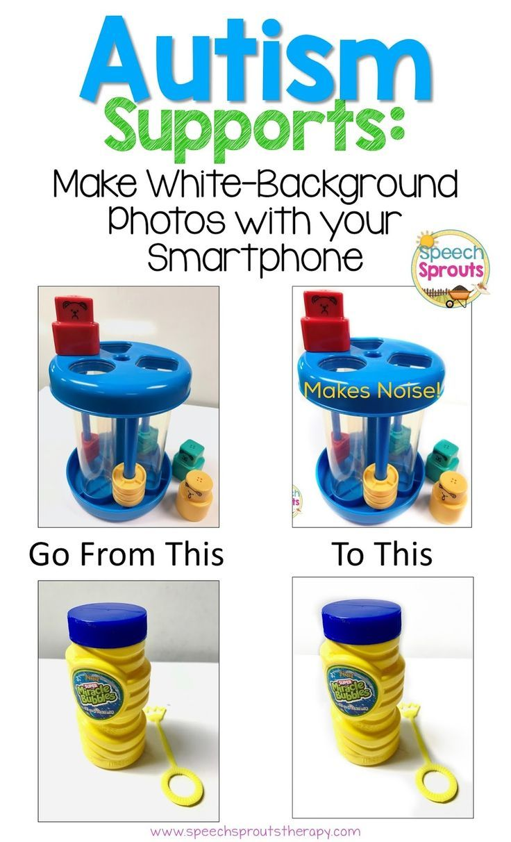 Autism Supports: How Make Photos with No Background Using Your Smartphone by Speech Sprouts- Making a choice board www.speechsproutstherapy.com