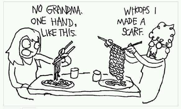 Chopstick Knitting