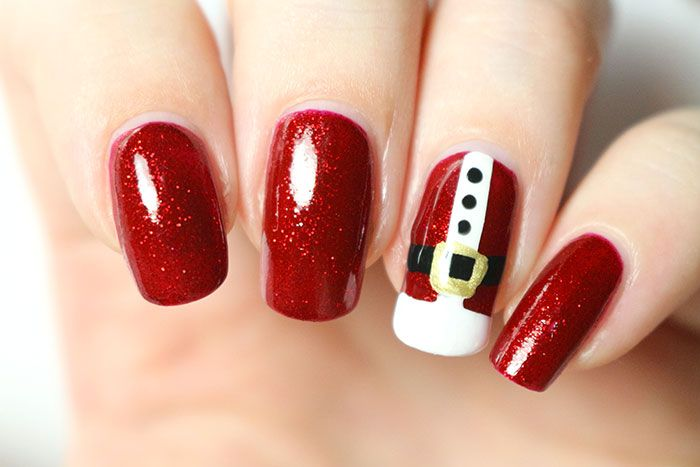 17 best ideas about red christmas nails on pinterest grey christmas nails summer shellac - Nail art facile ...