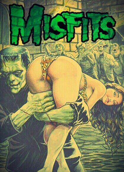 Misfits - Frankenstein and Cave Woman.