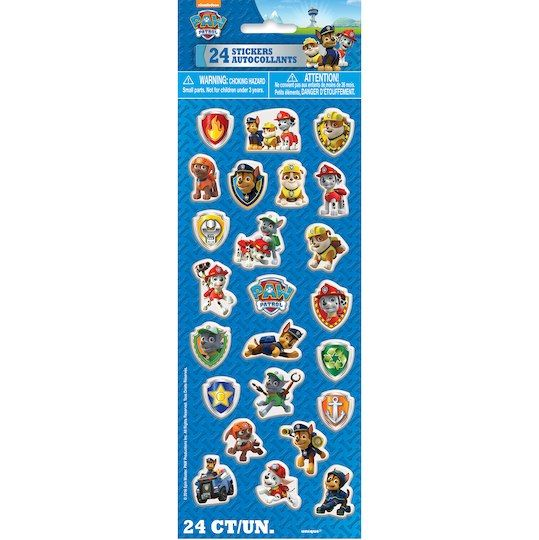 PAW Patrol Puffy Sticker Sheet | PAW Patrol Party Favors