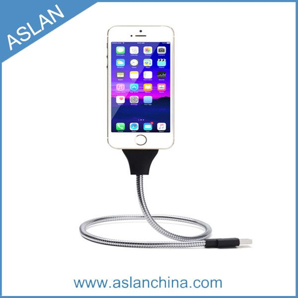2A metal charger holder Support charge & data transmission usb cable