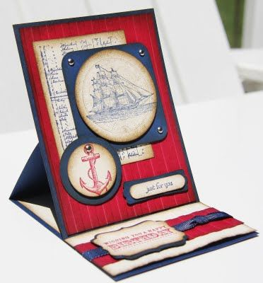 Stampin' By The Bay: Open Sea Easel Card