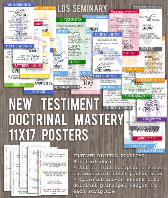 11x17 New Testament Doctrinal Mastery Posters by TulipTreesShop