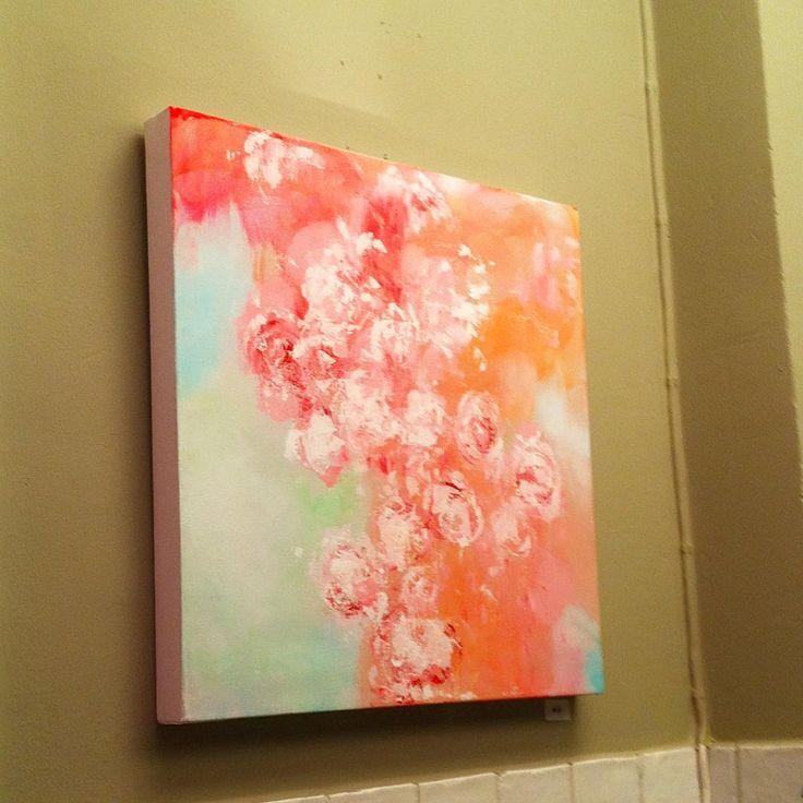 """""""Peaches.  #art#abstract#contemporaryart…"""""""