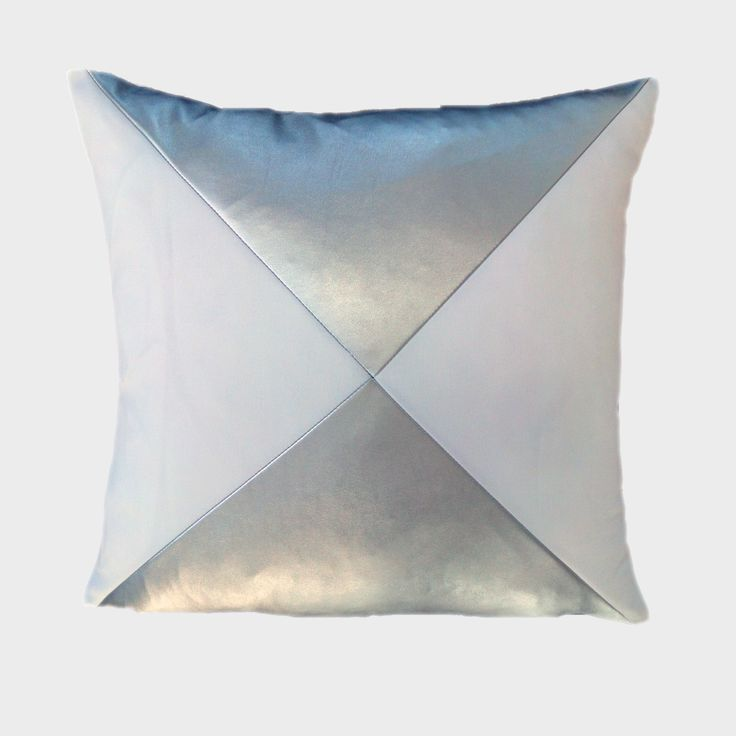"Glamour and punk all in one! Available in 18""x18"" & 24""x24"". Feather down insert included! Starts at $59.99 #pillow #handmade #trendy #silver #punk #glamour #canada #maxillari"