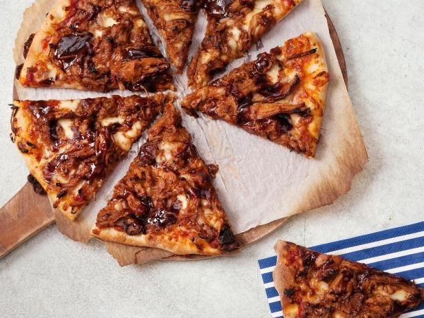 Get Pulled Pork BBQ Pizza Recipe from Cooking Channel