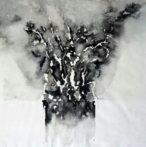 Misantropia - ink on canvas - cm 40x50