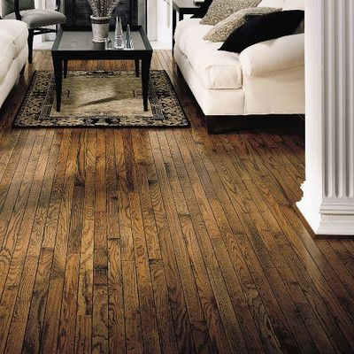 "Bruce Flooring Trumbull Strip 2-1/4"" Solid Oak Hardwood Flooring in Antique & Reviews 