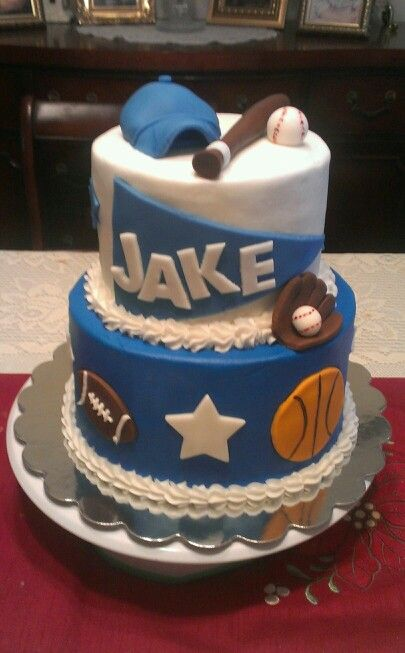 Birthday cake for a boy