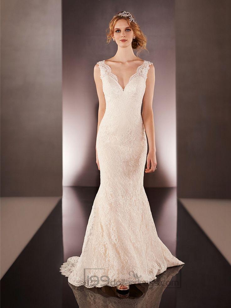 180 best vneck wedding dresses images on pinterest short for Used short wedding dresses