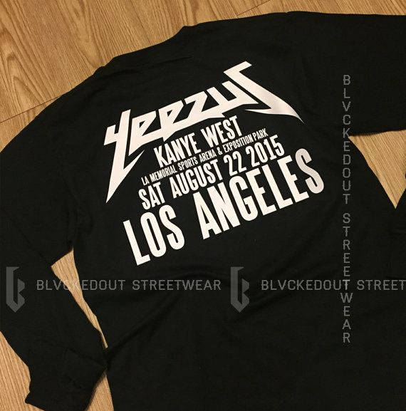Yeezus Tour Shirt Kanye West Black Los Angeles Longsleeve / Kanye West / Yeezy / Yeezus Merch / Yeezus Tour /