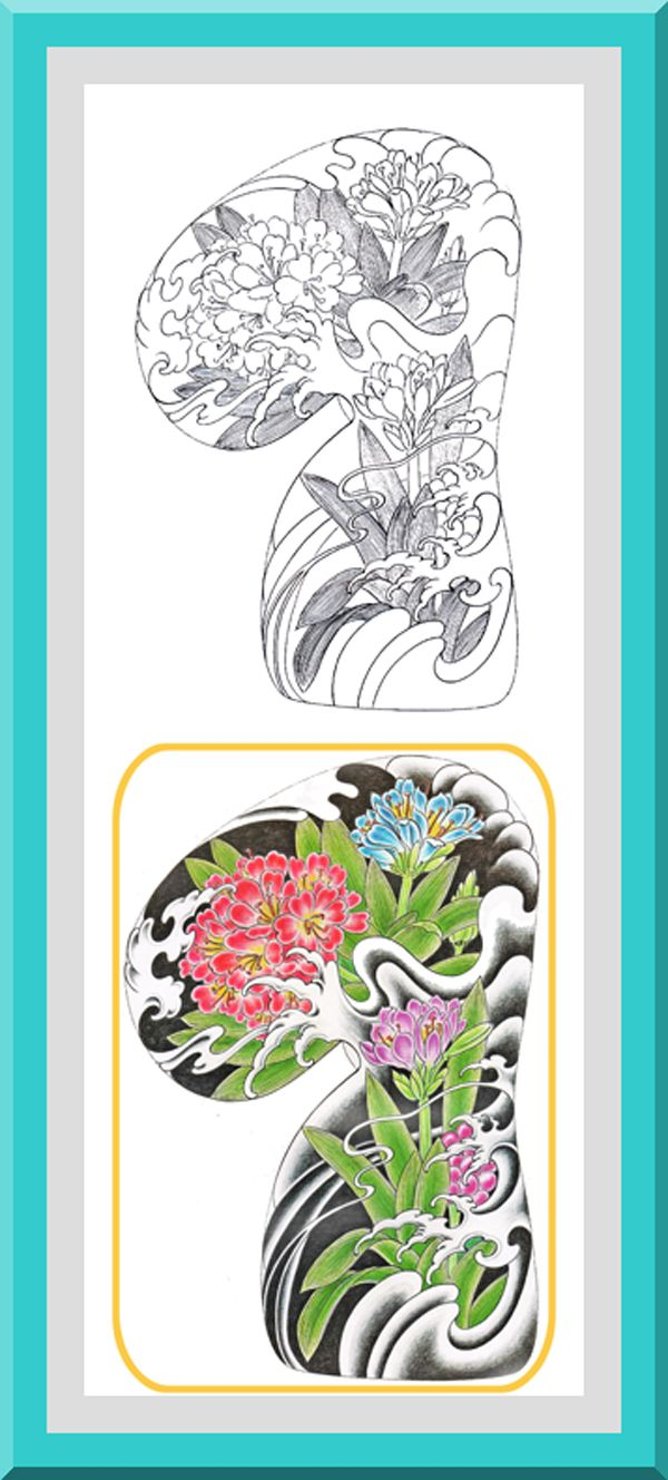 Coloring book outlines - Printable Flower Coloring Pages 30 High Definition Coloring Pages Black Outlines With Colored Examples