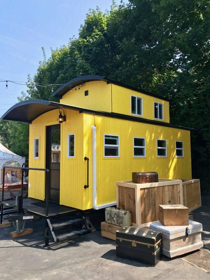 Arthur, A Charming Caboose on Wheels - Tiny House Blog