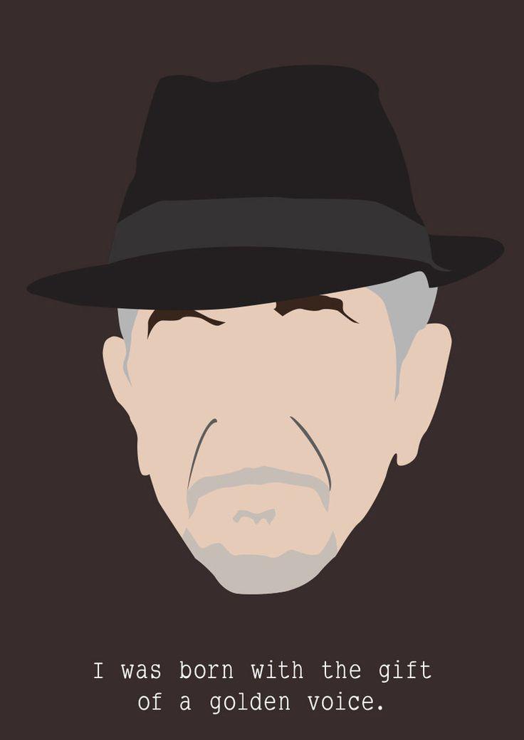 Leonard Cohen by Siwerski