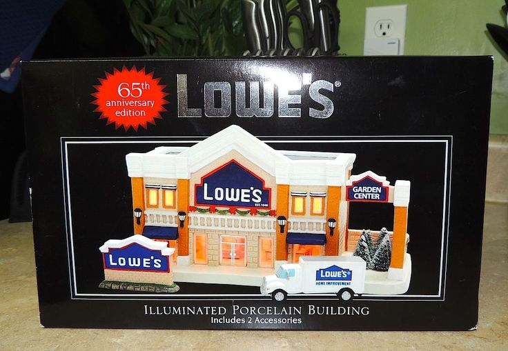 2011 LOWE'S HARDWARE Illuminated Porcelain Christmas Village Building Store LG