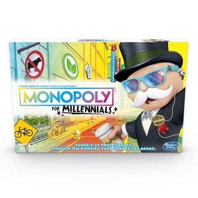 Hasbro Jogo Monopoly Millenials Monopoly Jogos De Tabuleiro Para Familia Tabuleiro