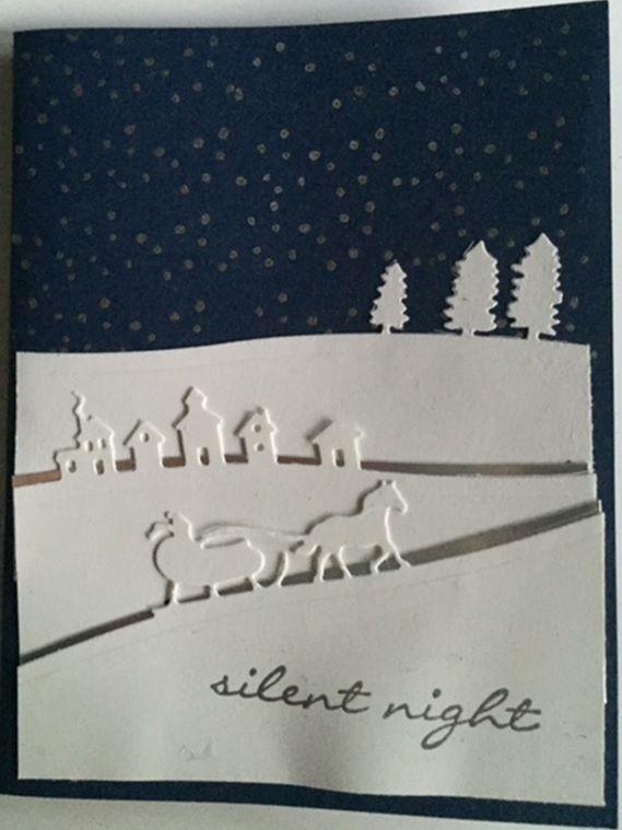 silent night - SU - Jingle all the way stamp set, Sleigh Ride Edgelits - Christmas