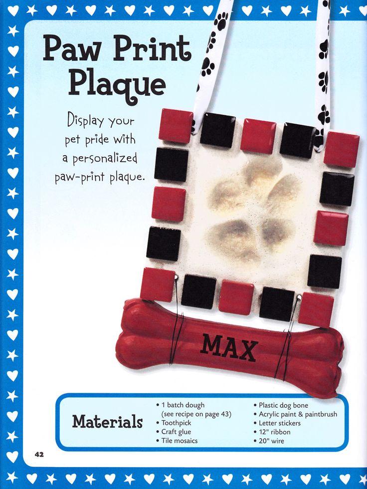 diy paw print plaque