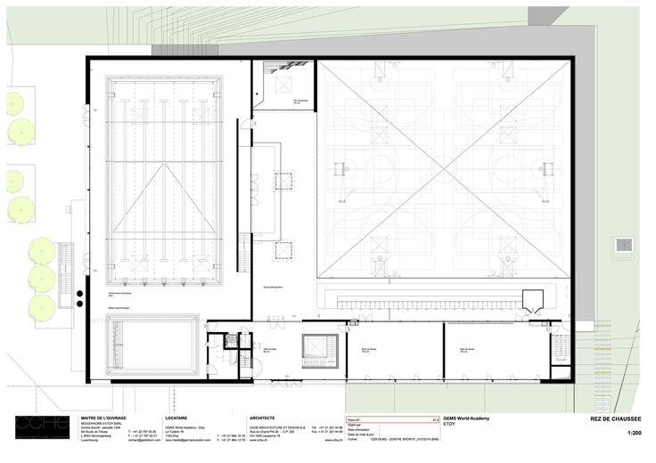 Centre Sportif GEMS World Academy,-1 Floor Plan