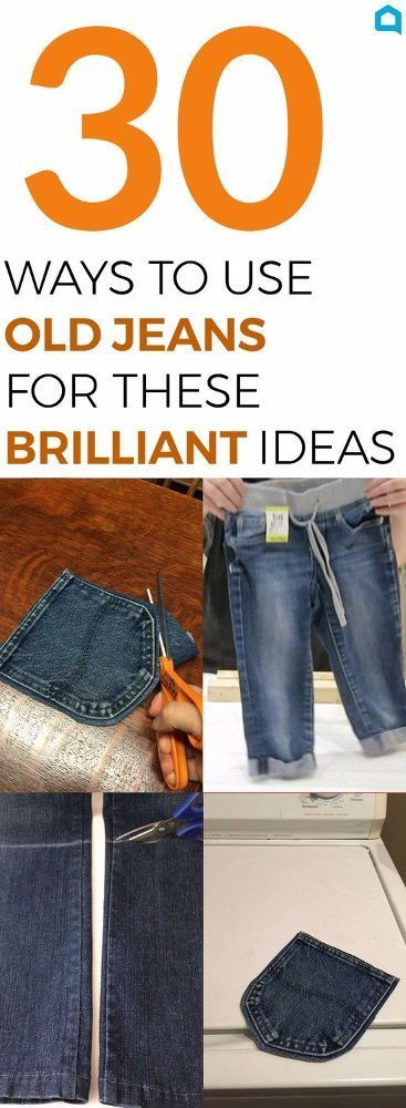 Snip snip! Your old jeans never looked so good! Click to see these 30 ideas to recycle old jeans!