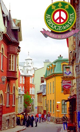 Quebec City - Upper Town Street by David Paul Ohmer