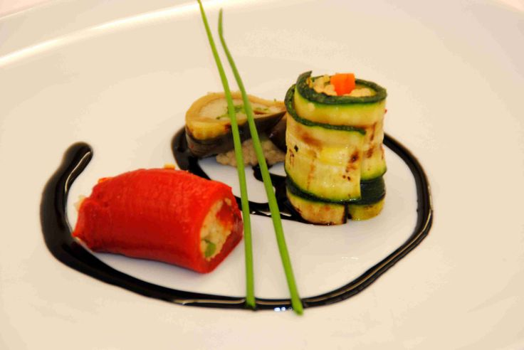 vegetable sushi with couscous