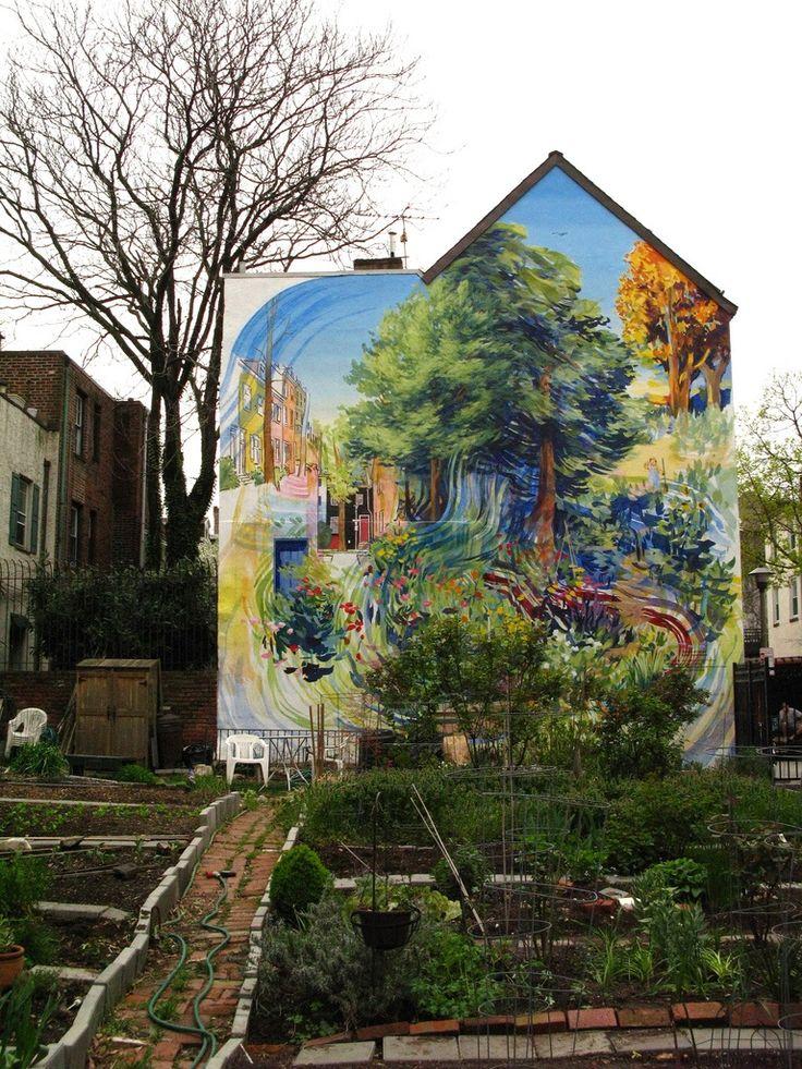 Street art and garden