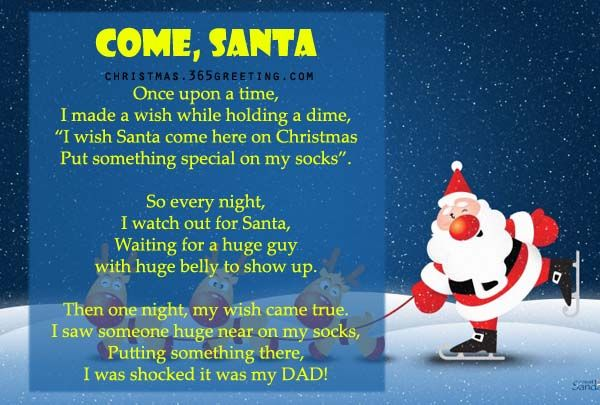 Funny Christmas Poems for Kids and Cards | Christmas Celebrations
